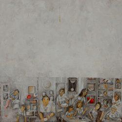 10-50x50 cm-Acrylic on wood board-Sold