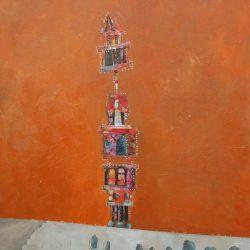 5-50x30 cm-Acrylic on wood board-Sold